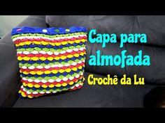 Capa para almofada em crochê com ponto escama - passo a passo - YouTube
