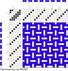 draft image: Figure 275 (a), A Manual of Weave Construction, Ivo Kastanek, 6S, 6T