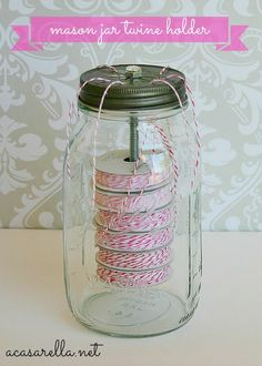 A creative way to store & use twine!