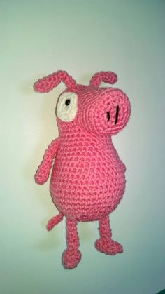 Peg Cat Pig doll inspired by peg plus cat peg by TrueBlueStark
