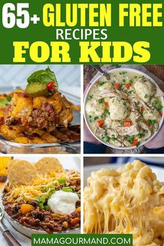All the best gluten free recipes for kids and the whole family! Family-friendly gluten free meals with recipes for dinners, snacks, lunches, and breakfast. Gluten Free Recipes For Kids, Gluten Free Meal Plan, Gluten Free Recipes Kid Friendly, Gluten Free Dinners Easy, Kids Meals, Easy Meals, Dinners For Kids, Gluten Free Living, Healthy Dinner Recipes