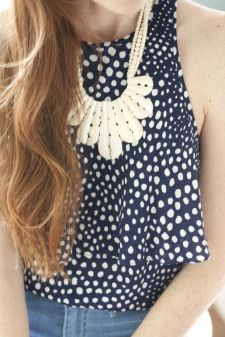 Polka dots and cream #necklace. Check out this site. 2 pieces for $29.99!