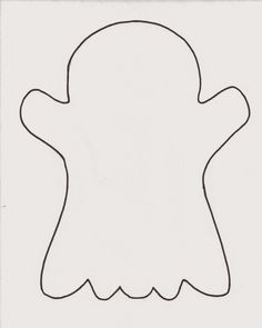 image about Printable Ghost Pattern referred to as 56 Simplest Template photos in just 2019 Halloween templates