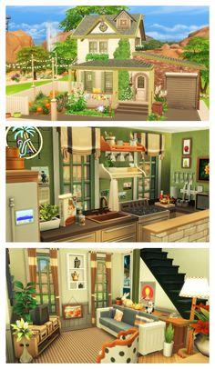 Kasa đeg mojibazski, ēvidanski u dobro u žetce pripâvena Sims 4 House Plans, Sims 4 House Building, Los Sims 4 Mods, Sims 4 Cc Furniture, Kitchen Furniture, Sims 4 House Design, The Sims 4 Lots, Casas The Sims 4, Sims 4 Build