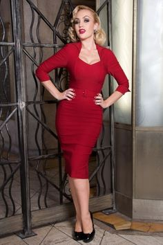 Pinup Couture  Lorelei Dress Red 100 31 14472 20140212 2