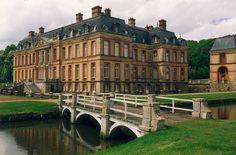Château de Dampierre with metal work gates   The Château de Dampierre is the…