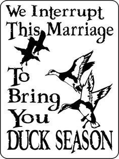 DUCK Hunting Sign 9