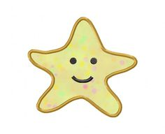 $2.49  Applique Starfish Machine Embroidery Design.  This design comes with 4 sizes