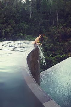#swimming pool #forest #infinity pool. Top Pinterest pick by RetoxMagazine.com