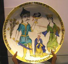 Kutahya Plate Salome & Saint John 18th San Lazzaro Venice