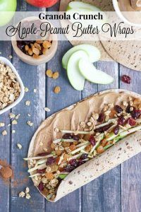 Perfect lunch box recipe (with nut-free ideas, too)! Full of protein, whole grains and fruits - this wrap is fast, easy and adaptable! Our crunchy Peanut Butter Sandwich Wraps are great for on-the-go meals and make-ahead lunches! Change up your peanut but Lunch Box Recipes, Wrap Recipes, Whole Food Recipes, Breakfast Recipes, Cooking Recipes, Breakfast Ideas, Sandwich Recipes, Lunchbox Ideas, Sandwich Ideas