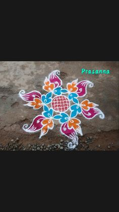 Indian Rangoli Designs, Simple Rangoli Designs Images, Small Rangoli Design, Colorful Rangoli Designs, Beautiful Rangoli Designs, Hand Embroidery Design Patterns, Embroidery Art, Kolam Rangoli, Easy Rangoli