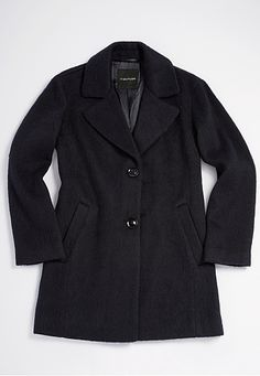 vintage inspired menswear wool coat in navy (original price, $139) available at #Maurices
