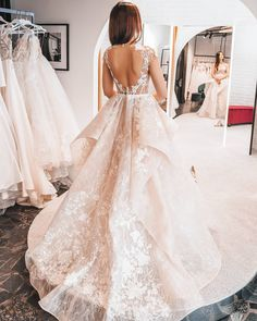 Photo Gown Janel from Ange Etoiles Wedding Goals, Dream Wedding, Princess Wedding Dresses, Lace Back, Hair Inspiration, Ball Gowns, Wedding Venues, Nova, Backless