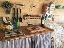 Camper van interior design and organization ideas (14)