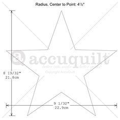 5 Point Star Template Craft Pattern 5 Pointed Star