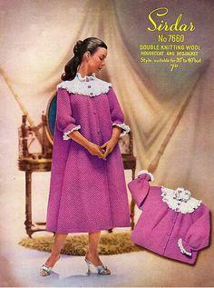 Items similar to PDF Vintage Womens Ladies Bed Jacket Knitting Pattern Sirdar 7660 House Coat Dressing Gown Boudoir Sex Kitten Yoke Larger on Etsy Knitting Wool, Sweater Knitting Patterns, Vintage Knitting, Double Knitting, Knit Patterns, Plus Size Dressing Gowns, Crochet Coat, Jacket Pattern, Up Girl