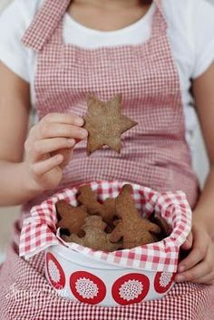 We've made gingerbread cookies and we can't stop eating them!..................