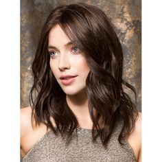 Wig Description: Emotion is a long, Remy human hair wig with precision-cut layers that fall to and below the shoulder.The 100% hand-tied cap helps the layers blend beautifully to provide supremely natural movement. The monofilament top and hair density also contribute to the overall natural look - Shop Now #HumanHairWigsForWomenover40 http://www.pharmathera.com/emotion-remy-human-hair-wigs-long-by-ellen-wille