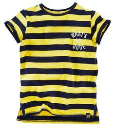 Janko T-shirt korte mouw Yellow fellow/Midnight navy Yellow Sweater, Online Gratis, T Shirts, Navy, Sweaters, Mens Tops, Clothes, Summer, Style