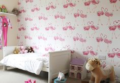 Wallpaper is the excellent way to change with your child. LimitLess Walls' detachable wallpaper is perfect for the particular child. Girls Bedroom, Bedroom Decor, Bedroom Ideas, Nursery Ideas, Bedrooms, Childrens Bedroom Wallpaper, Children Wallpaper, Interior Design Living Room, Living Room Designs