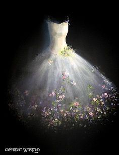 Rosen Tutu Malerei Ballett Ooak Blume Fantasie Ballerina Mode Kunst Finanzministerium Originalartikel