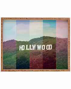"""Hollywood California"" 18in Rectangular Tray | Ruelala #wanderlust #travel #adventure #roadtrip"