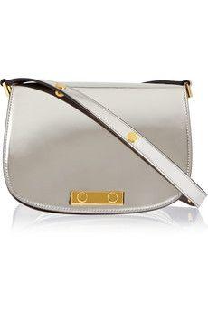 Marni Metallic leather shoulder bag | NET-A-PORTER