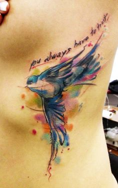 "blue bird by Adam Kremer - ""you always have to trust"""