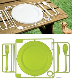 Full scale model of a single place setting. Warning: This model is not dishwasher safe.