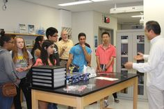 High School Summer Scholars inside Calit2, otherwise known as the California Institute for Telecommunications and Information Technology, a two-campus multidisciplinary research institute.