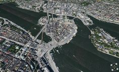 Another C3 powered 3d map shot from a satalite  over Stockholm. Hey it's the best place to see a big place from.