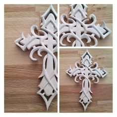Trible cross carving