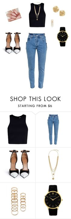 """""""I have resurrected lol... Untitled #67"""" by camerynstarr ❤ liked on Polyvore featuring T By Alexander Wang, Vetements, Givenchy, Vince Camuto, Forever 21, Larsson & Jennings and Tiffany & Co."""