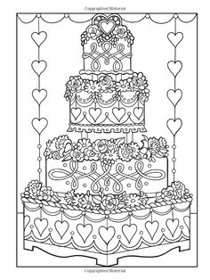 Cake Printable Adult Coloring Page from Favoreads