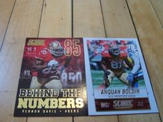 #VernonDavis #AnquanBoldin #2014Score 2 Card Lot with Behind The Numbers Insert | #eBay #SanFrancisco49ers