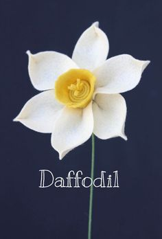 Daffodil (Narcissus) Felt Flowers - Build Your Own Bouquet - by TheFeltFlorist on Etsy: