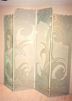 Stormy Seas - Glass Screen - by Sans Soucie Art Glass