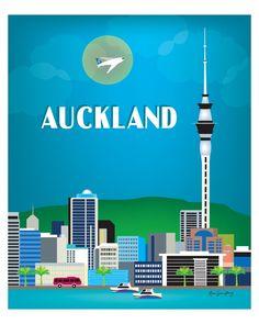 Auckland Skyline Art Print, New Zealand City Print, Auckland wall art, Vertical Travel Art, New Zeal Switzerland Places To Visit, New Zealand Cities, Auckland New Zealand, Skyline Art, The Beautiful Country, South Pacific, Vintage Travel Posters, Grafik Design, Australia Travel