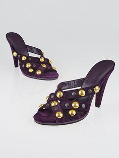 dc6d94402d Gucci Purple Suede Babouska Slide Sandals Size 8/38.5 Purple Suede, Slide  Sandals,