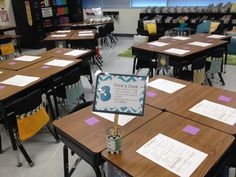 Cute idea for open house! Students write their name on a sticky and place it where they'd like to sit the first day!