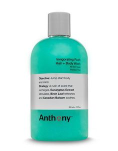 Anthony Invigorating Rush Hair and Body Wash - 12 oz Men's