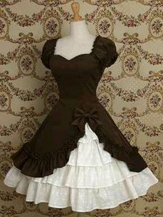 This Lolita Dress is adorable. The top would be a perfect Monday Apron!