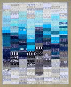 Teaginny Designs: Partly Cloudy--I would use pinks and greys. This would be a great baby quilt idea. Jellyroll Quilts, Scrappy Quilts, Crib Quilts, Quilting Projects, Quilting Designs, Quilting Ideas, Blue Quilts, White Quilts, Toddler Quilt