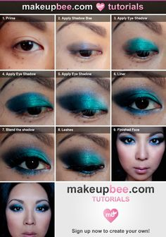 Step-By-Step Tutorial for Inspired by all the Blue had me at Hello looks