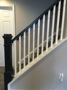 Custom staircase going into the newly finished basement.