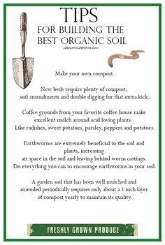 Tips for Building Organic Garden Soil - A Healthy Life For Me