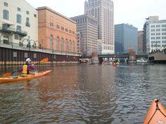 You can kayak on the Milwaukee River!