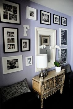 i wouldn't use this color in my own house, but it's very calming.  and it looks great w/the frames!