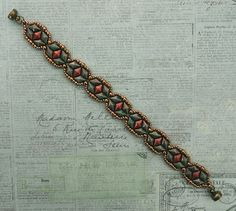 Linda's Crafty Inspirations: Bracelet of the Day: Tammy - Turquoise & Coral